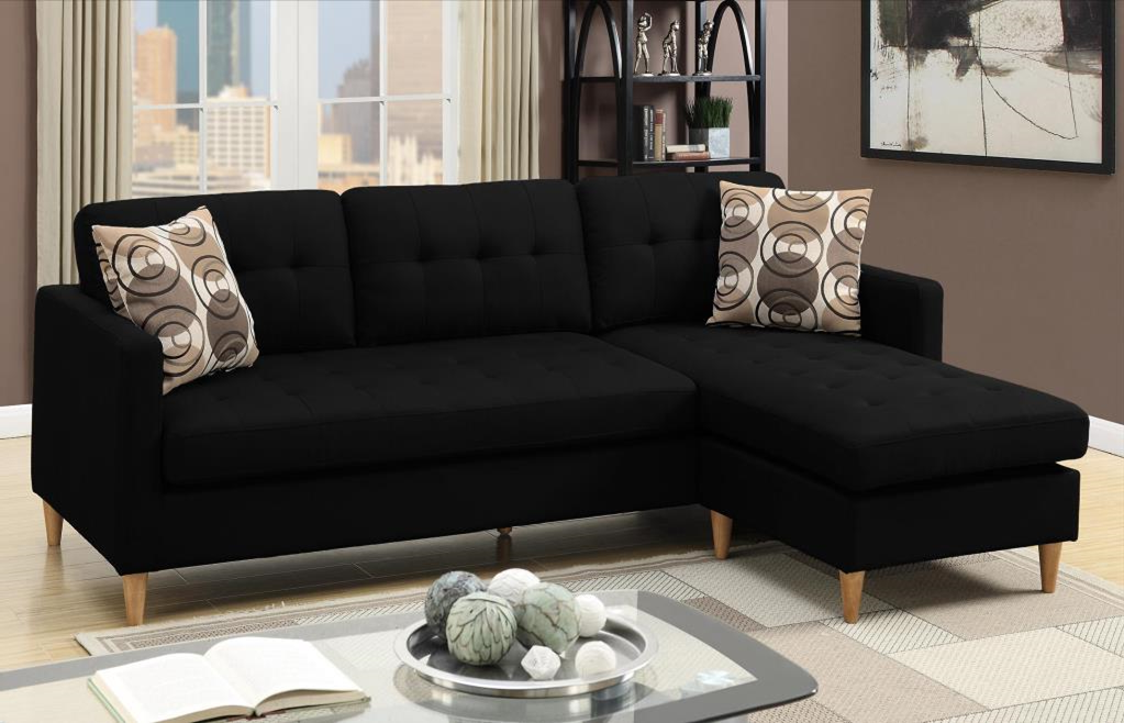 Arne Polyfibre Chaise Sofa Black reversed
