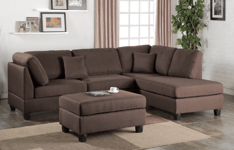 Ashmore Chaise Sofa in Umber RHF chaise