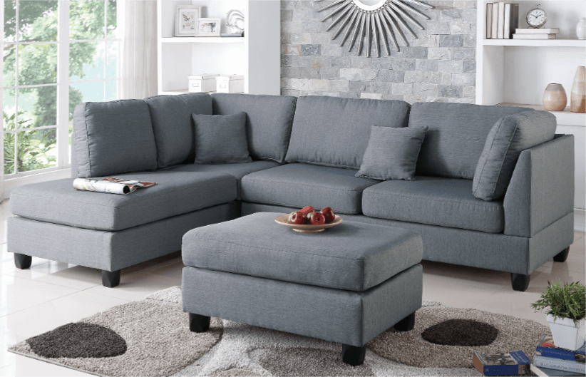 Ashmore Pewter Linen Lounge Suite From Chaise Sofas In Perth