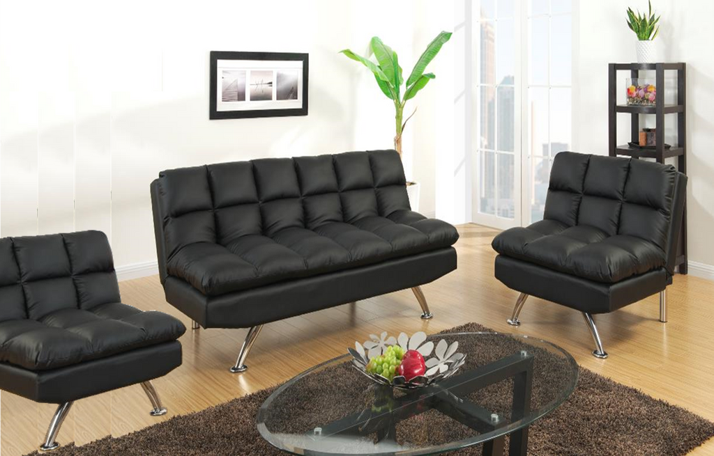 Chalbury Adj Sofa Set Two Chairs Black