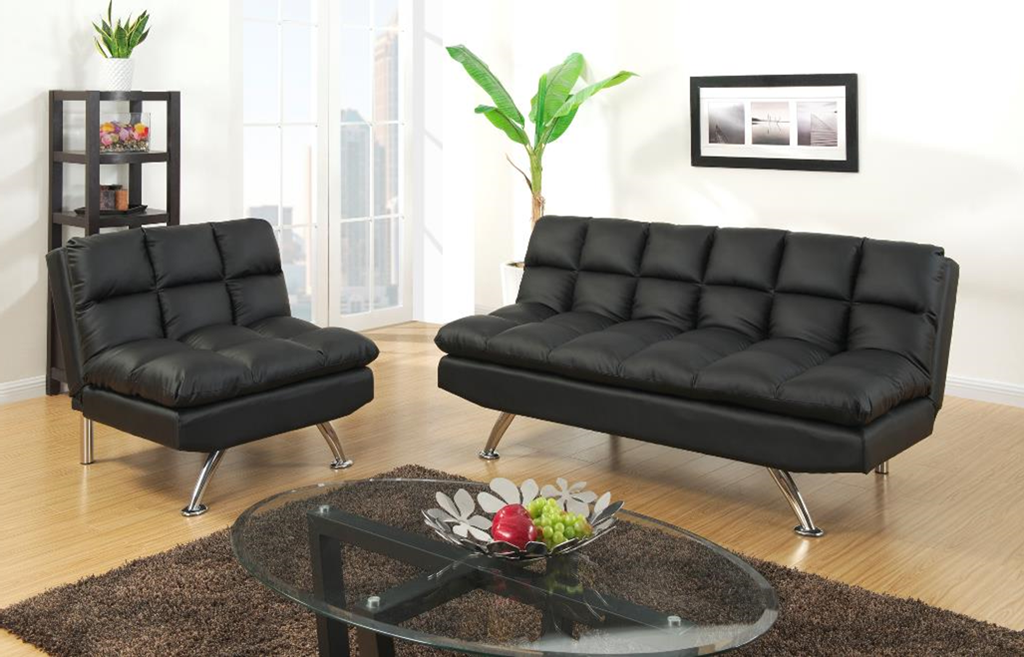 Chalbury Adj Sofa Set One Chair Black