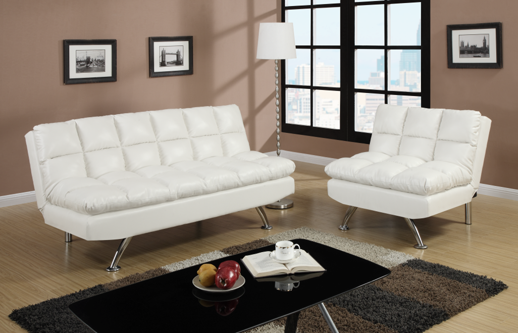 Chalbury White Adjustable Lounge Suite Chaise Sofas Perth