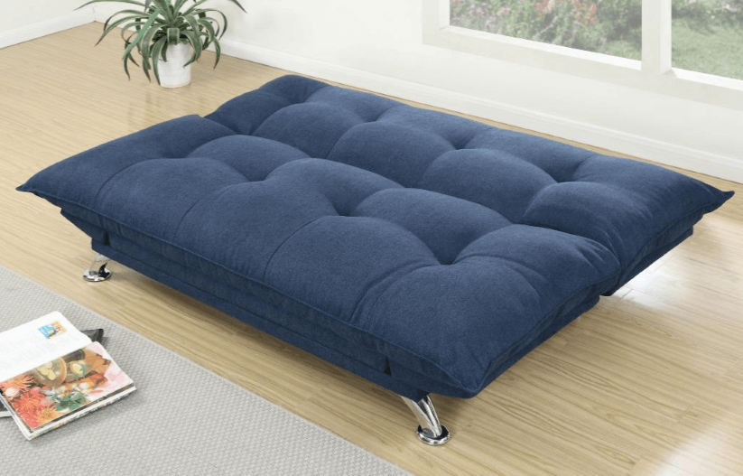 Cranborne Navy Linen Look Adjustable Sofa From Chaise