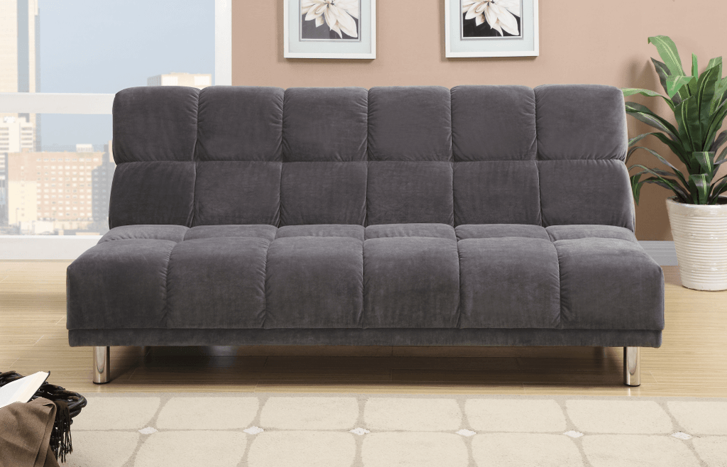 Cranborne Charcoal Micro Suede Adj Sofa Bed At Chaise
