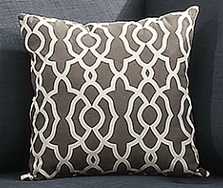 Branksome Cushion Damask Ash