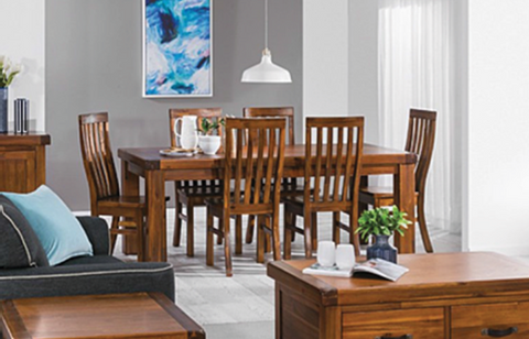 Dorchester Acacia 7 Piece Dining Suite
