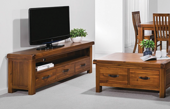 Dorchester Acacia Medium Entertainment Unit Walnut