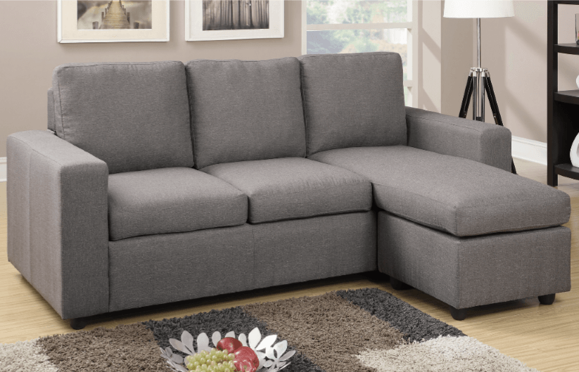 Farnham Grey Blended Linen Lounge Suite From Chaise Sofas