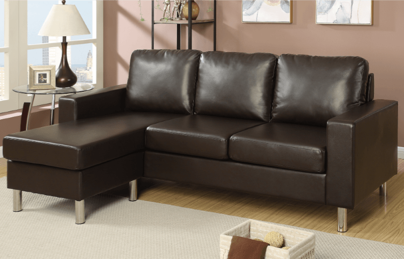 Farnham Espresso Leather Impress Lounge Suite From Chaise