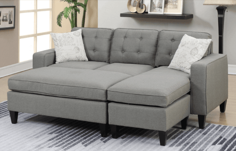 Farnham Chaise Sofa in Light Grey LHF