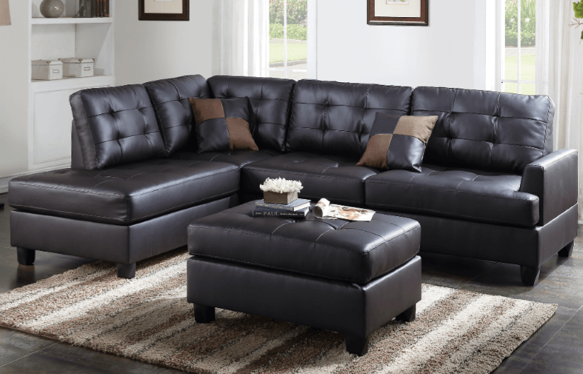 Ferndown Espresso Leather Impress Lounge Suite From Chaise