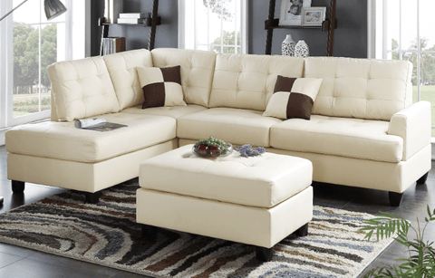 Ferndown Chaise Sofa in Latte RHF