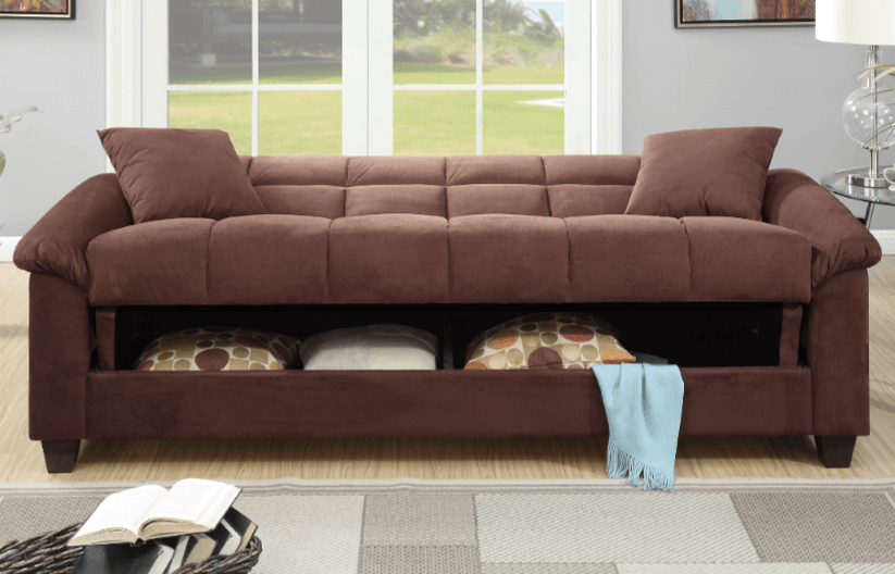 Kimmeridge Chocolate Micro Suede Adjustable Sofa Bed