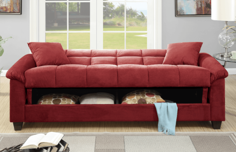 Kimmeridge Adj Storage Sofa Crimson