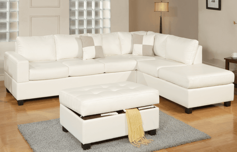 Langton Chaise Sofa in White LHF