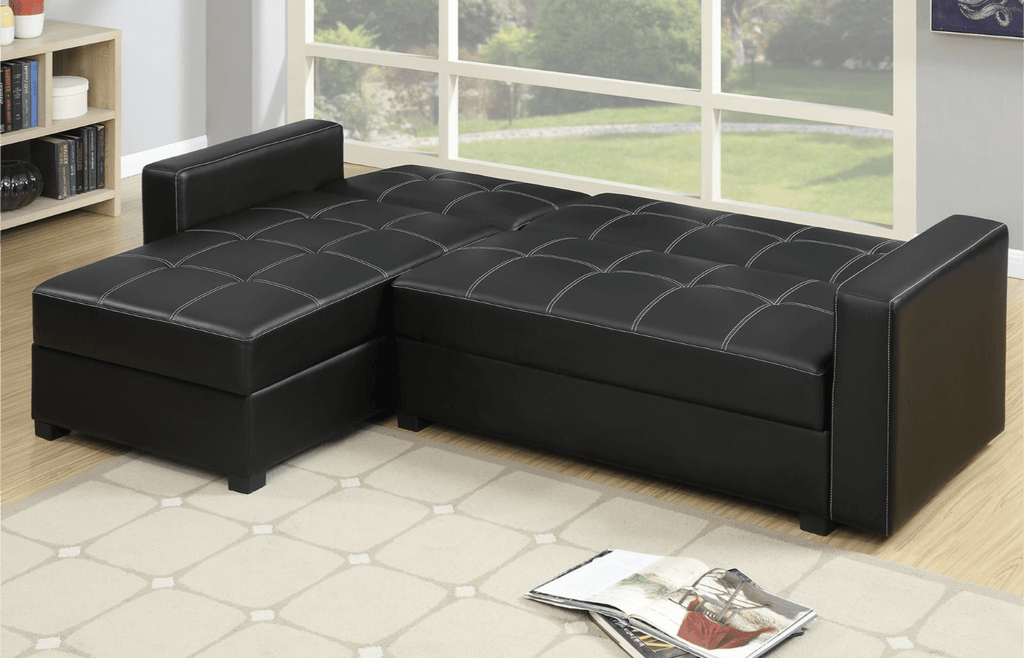 Littlemoor Adj Chaise Sofa Bed Black
