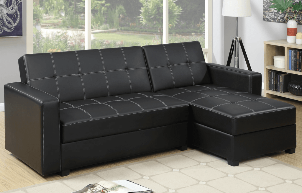 Littlemoor Adj Chaise Sofa Black RHF