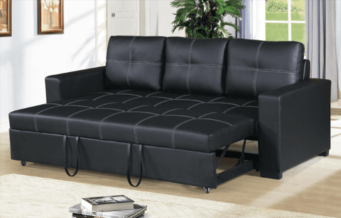 Littlemoor Convertible Sofa in Black