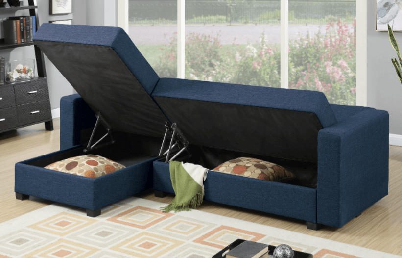 Littlemoor Adj Chaise Sofa Royal Blue Storage