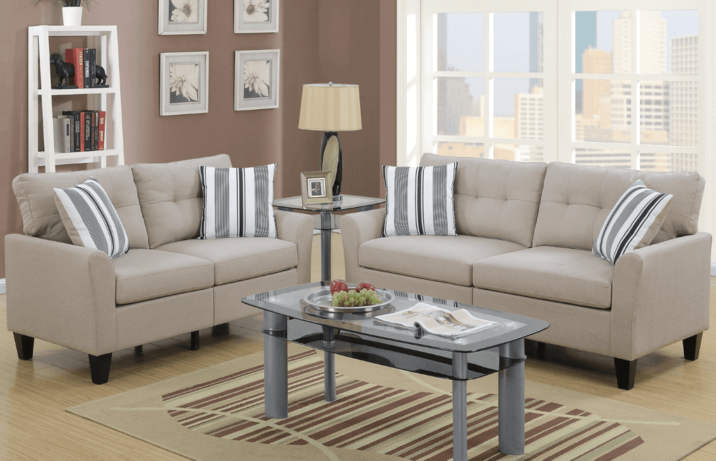 Melbury Sofa Set in Latte