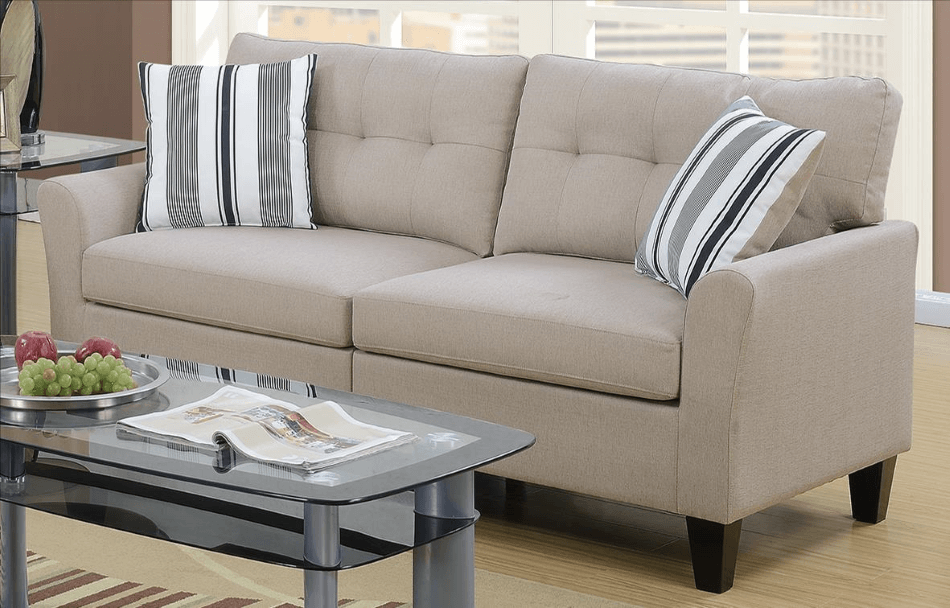 Melbury Fabric Lounge Suite In Latte From Chaise Sofas In