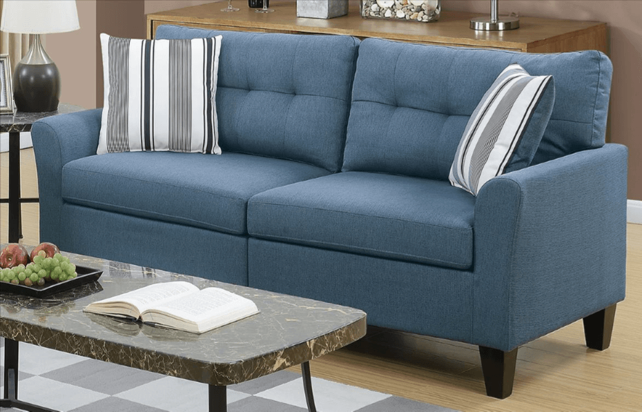 Melbury Three Seat Sofa Set in Sapphire Blue