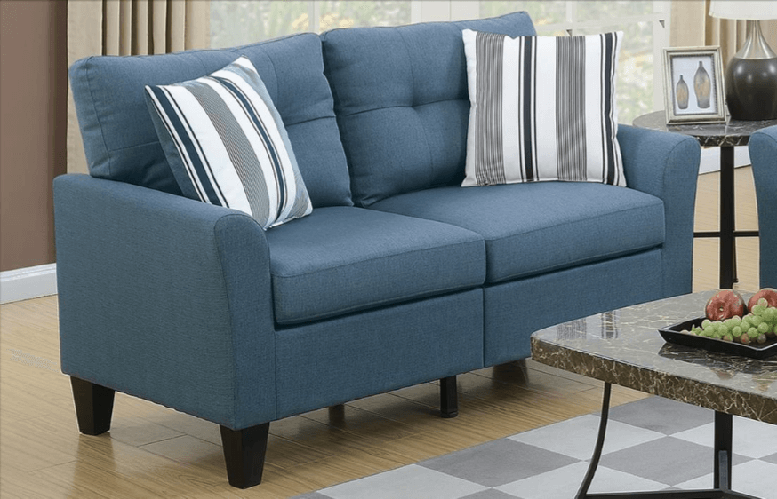 Melbury Two Seat Sofa Set in Sapphire Blue