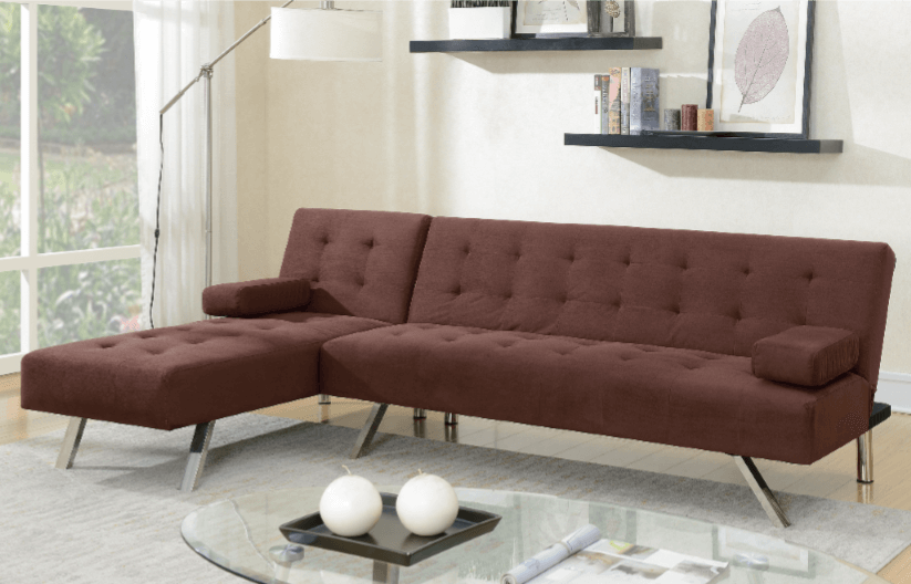 Moreton Chocolate Micro Suede Adjustable Sofa From Chaise