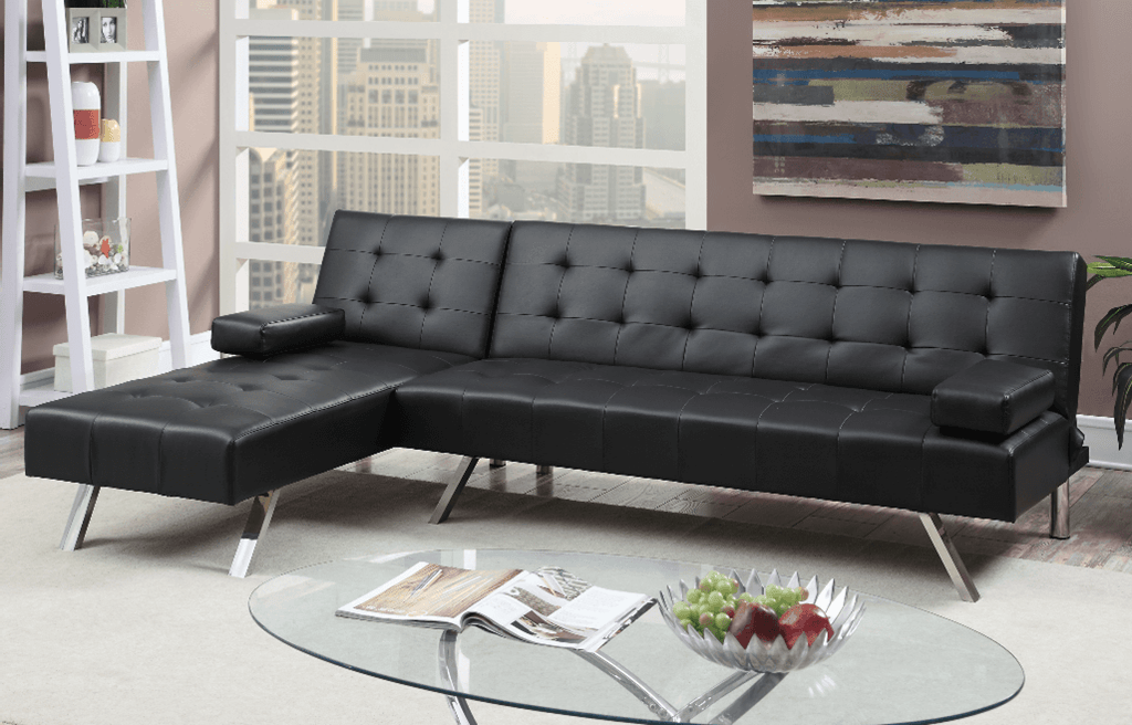 Moreton Adj Chaise Sofa Black LHF