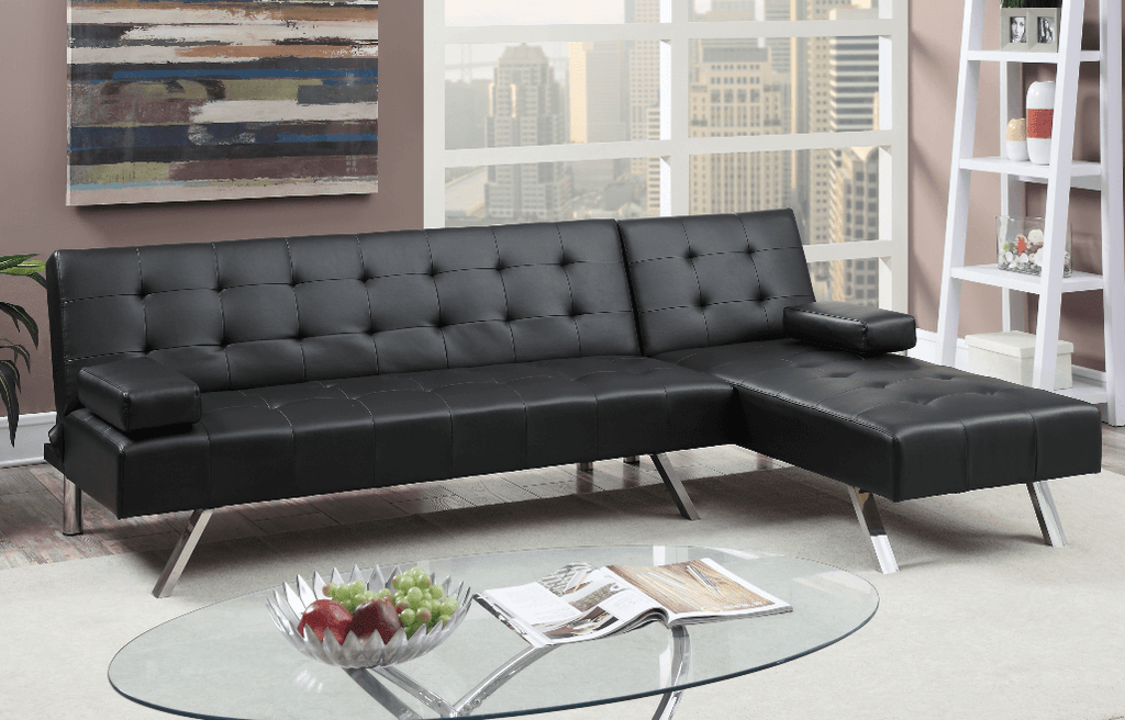 Moreton Adj Chaise Sofa Black RHF