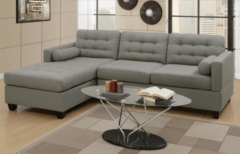 Preston Chaise Sofa LHF in Grey