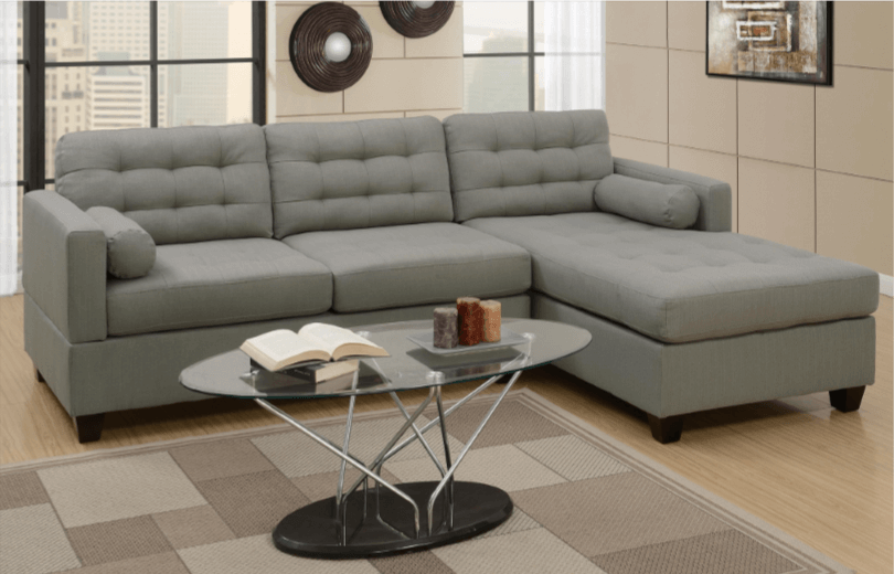Preston Chaise Sofa RHF in Grey