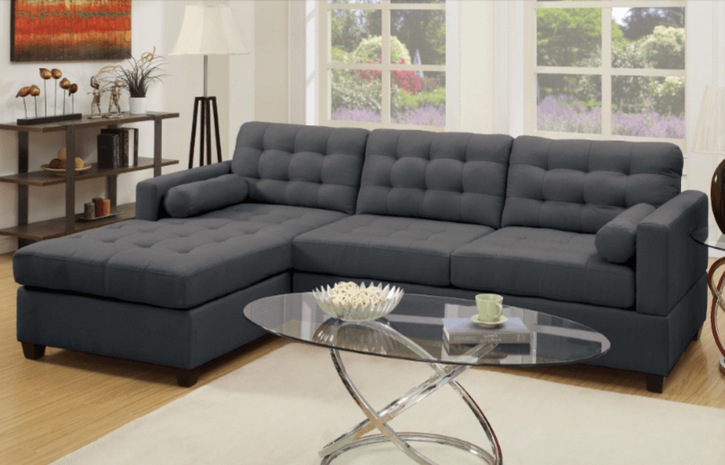 Preston Chaise Sofa in Slate Black LHF