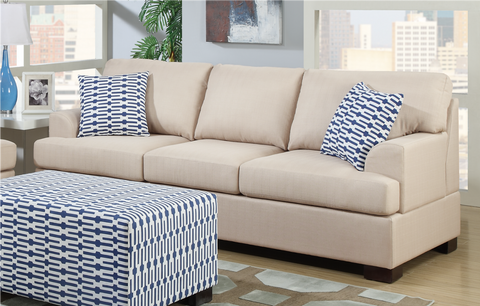 Preston Three Seat Sofa in Sand
