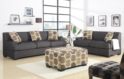 Sandford Sofa Suite in Ash Black
