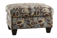 Oakford Ottoman in Floral Print