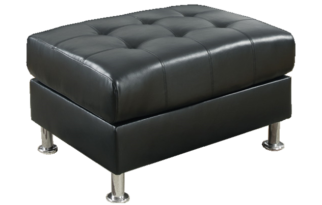 Oxbridge Storage Ottoman in Black