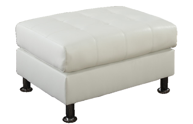 oxbridge white bonded leather storage ottoman at chaise sofas in perth. Black Bedroom Furniture Sets. Home Design Ideas