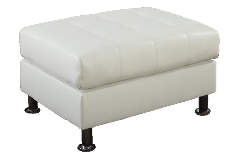 Oxbridge Storage Ottoman in White