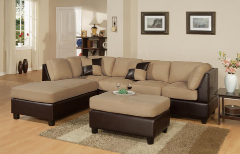 Wexford Chaise Sofa in Hazelnut