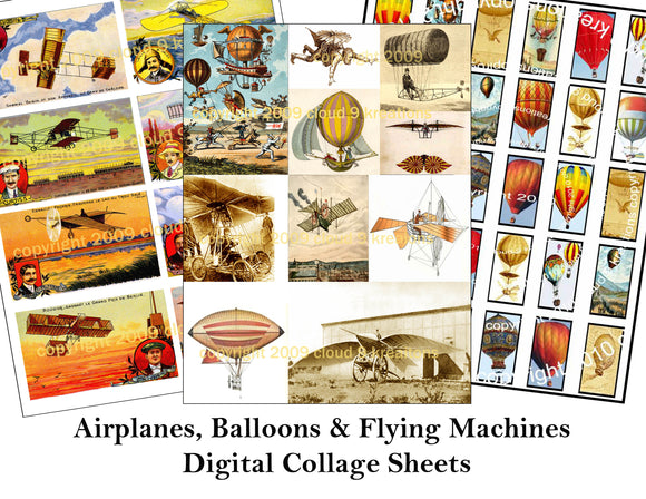 Airplanes, Balloons & Flying Machines