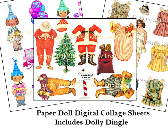 Paper Dolls Including Dolly Dingle