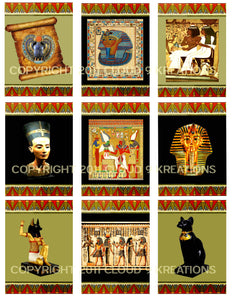 "Ancient Egypt . . . Altered Art 2.5""x3.5"" Digital Collage Sheet"