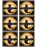 Halloween Moonbeam Tonic Apothecary Label Digital Collage Sheet (3 Styles)