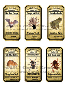 Apothecary Labels  . . . Halloween . . . Digital Collage Sheet 2