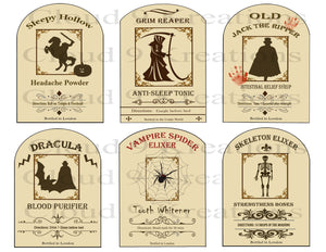 Spooky Halloween Apothecary Labels