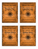 Witch Hazel's Magic Potion Powders Apothecary Labels