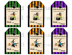 Witchy Poo Delivery Service Tags/Stickers Digital Collage Sheet