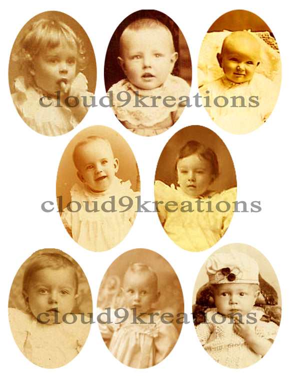 Victorian Babies Digital Collage Sheet 1