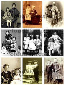 Victorian Children Digital Collage Sheet 1